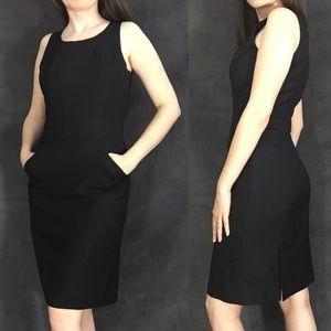 J.Crew LBD black professional midi dress